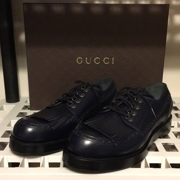 b55790d436d New Gucci Sella Lux leather wing tip Oxford ❤ 🔥